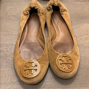 Tory Burch suede Riva Flats size 8.5